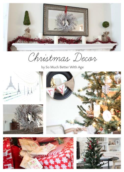 Christmas decor www.somuchbetterwithage.com