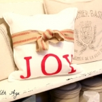 No Sew Christmas Pillow