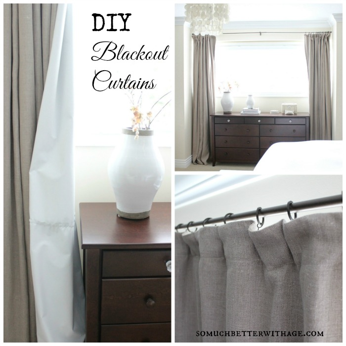 DIY Blackout Curtains | somuchbetterwithage.com