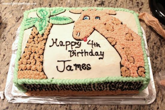 Safari birthday cake somuchbetterwithage.com
