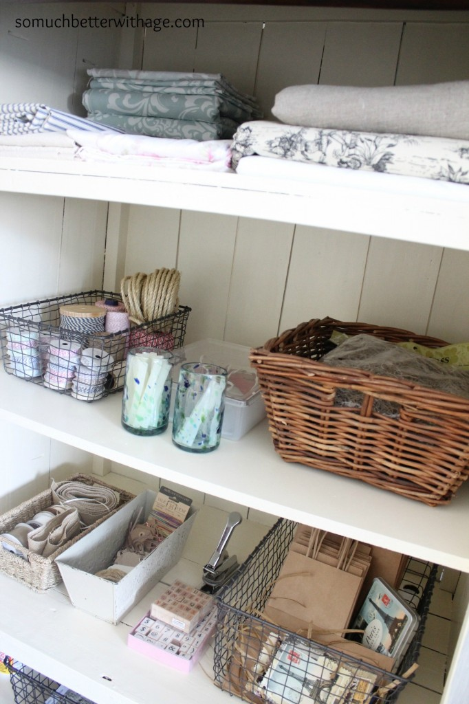 Craft cabinet | somuchbetterwithage.com