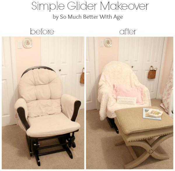 Simple glider makeover www.somuchbetterwithage.com