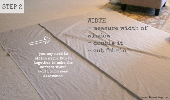 How To Make Curtains Step 2 www.somuchbetterwithage.com