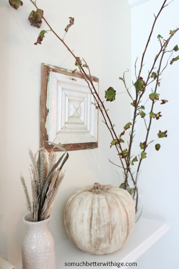 Vintage Chalk Paint Pumpkins from So Much Better with Age  |  25 Creative DIY Pumpkins at www.andersonandgrant.com