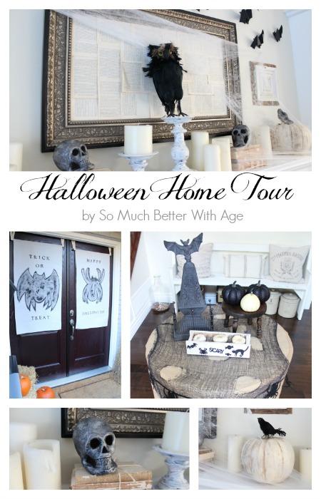 Halloween Home Tour  | somuchbetterwithage.com