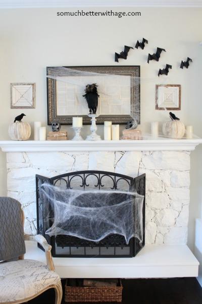 Spooky mantel www.somuchbetterwithage.com