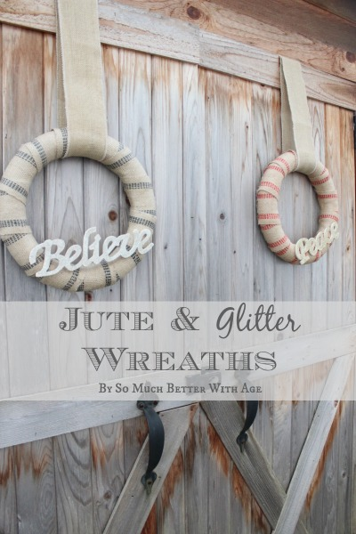 10 Kitchen And Home Decor Items Every 20 Something Needs: Jute And Glitter Wreaths