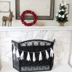 Toilet Paper Garland and Tree Decorations