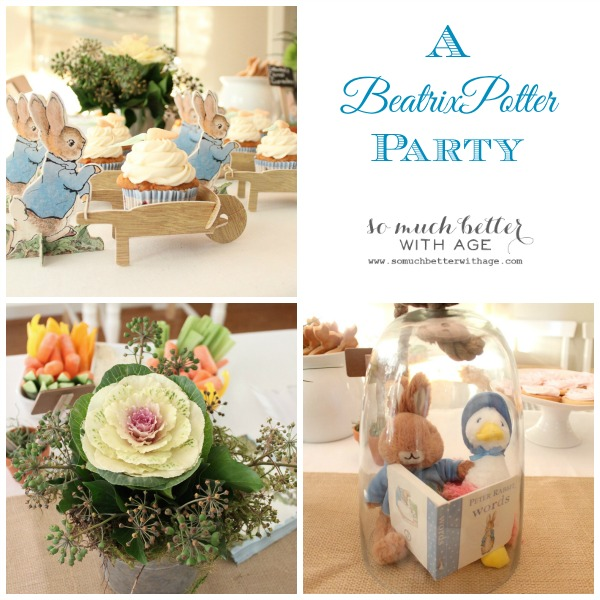 A Beatrix Potter party via somuchbetterwithage.com
