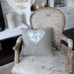 DIY Vintage Valentine Pillow