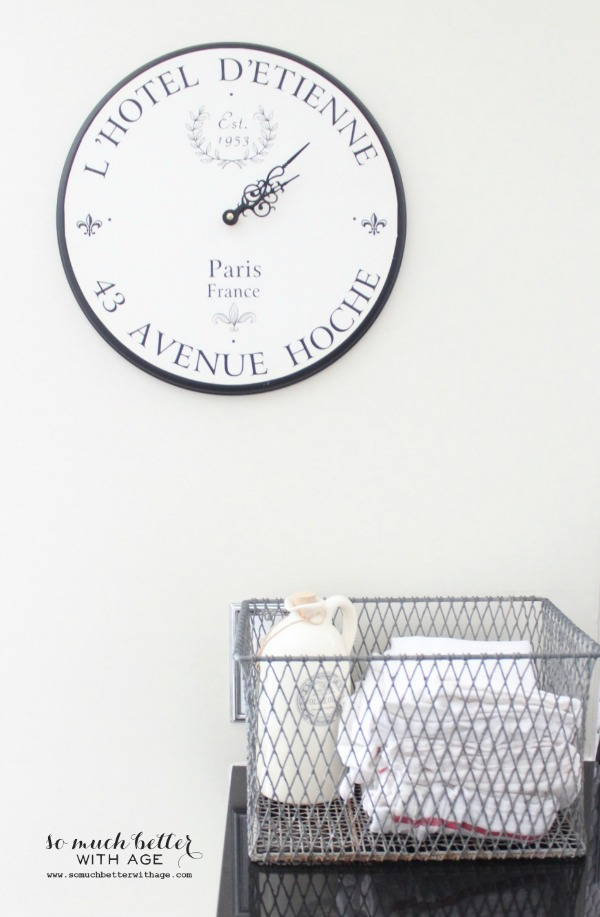 french clock & basket somuchbetterwithage.com