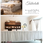 Master Bedroom Update – Upcycled Bedskirt
