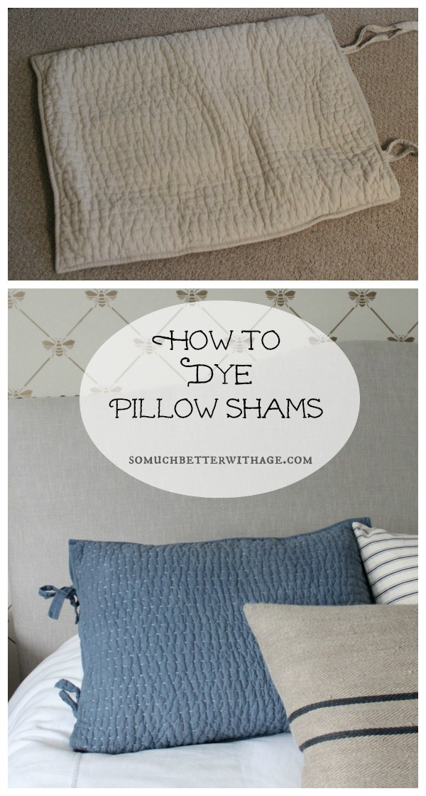 How To Dye Your Pillow Shams For An Instant Update Jennifer Rizzo