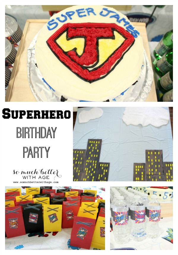 Superhero birthday party ideas via somuchbetterwithage.com