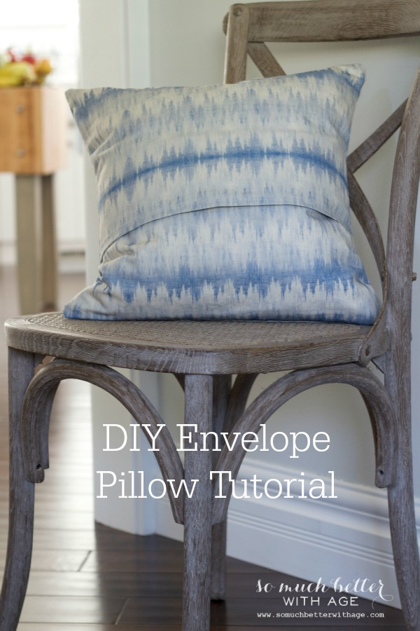 DIY envelope pillow cover tutorial via somuchbetterwithage.com