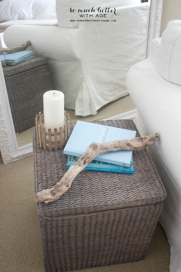 Painting wicker driftwood grey via somuchbetterwithage.com
