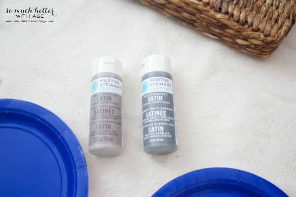 Martha Stewart paints / Painting wicker driftwood grey via somuchbetterwithage.com