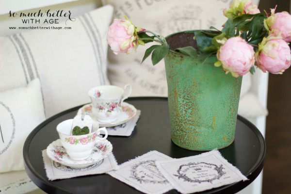 French vintage / Mother's day tea party via somuchbetterwithage.com