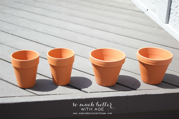 Terra cotta pots / French glazed plant pots via somuchbetterwithage.com