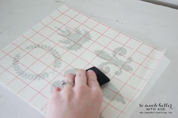Silhouette transfer sheet / French glazed plant pots via somuchbetterwithage.com