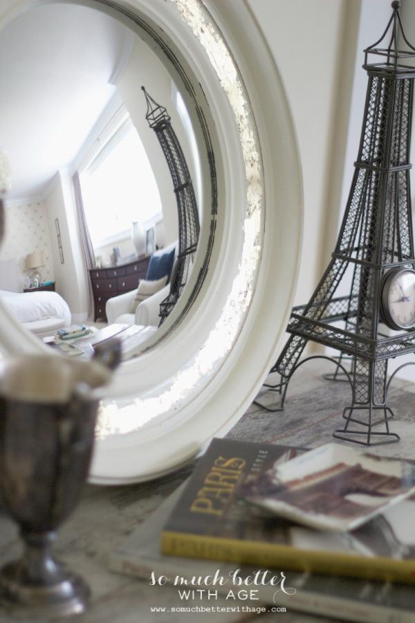white-gilded-convex-mirror