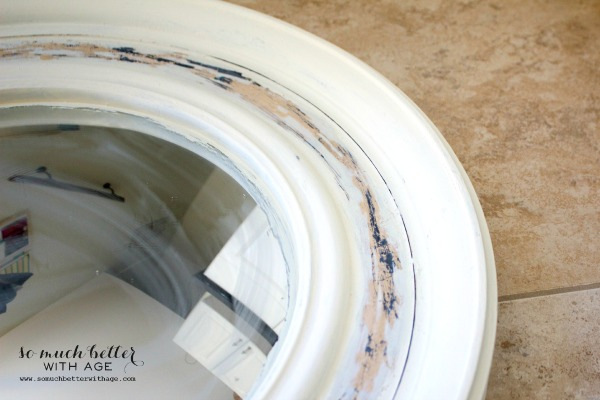 How to make a diy gold leaf mirror jennifer rizzo for White and gold mirror