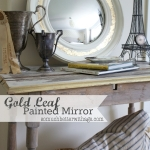 Gold Leaf Painted Mirror