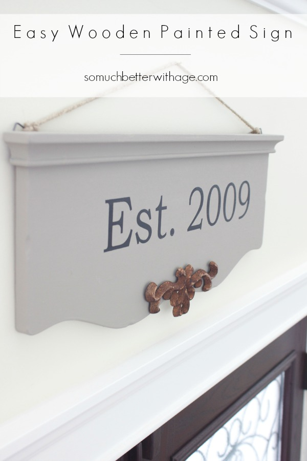 Easy wooden painted sign via somuchbetterwithage.com