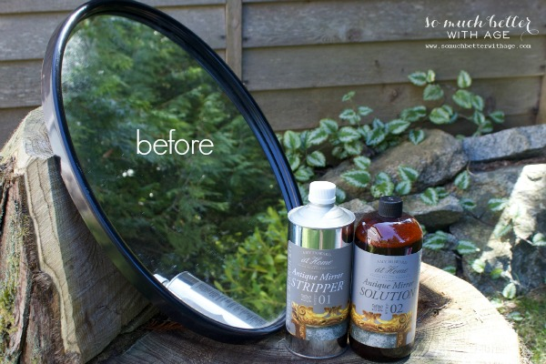 Before / How to antique a mirror via somuchbetterwithage.com