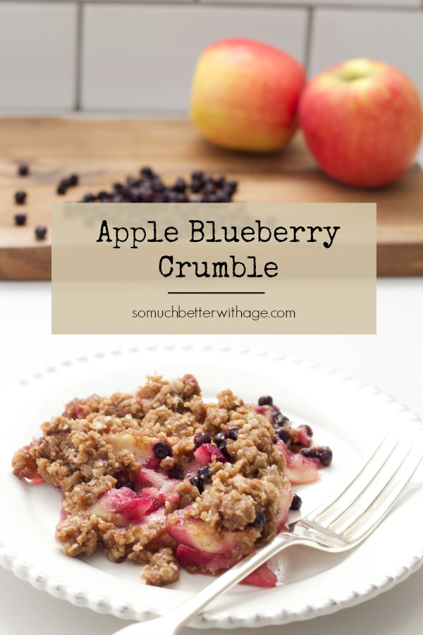 So let me share my Apple Blueberry Crumble with you.