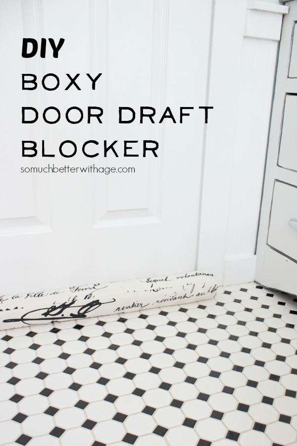 Fireplace Design fireplace draft stopper : DIY door draft blocker - Jennifer Rizzo