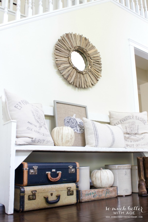 Fall Home Tour 2014 / neutral foyer