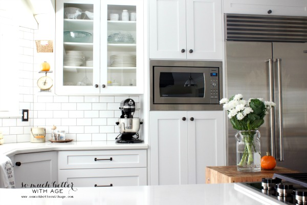 Fall Home Tour 2014 / new white kitchen