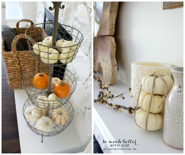 Fall Home Tour 2014 / mini pumpkins