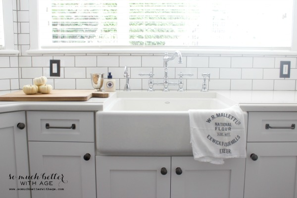 Fall Home Tour 2014 / white kitchen