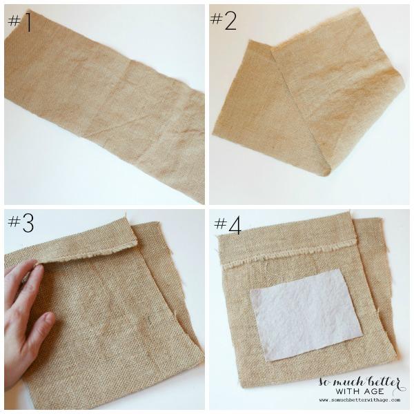 Diy Burlap Sack: DIY Burlap & Drop Cloth Gift Bag