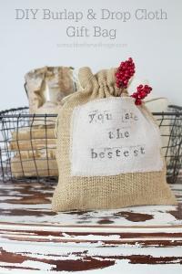DIY-burlap-drop-cloth-gift-bag
