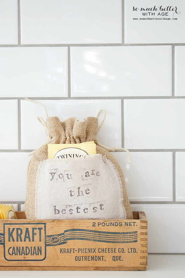 You are the bestest burlap gift bag by somuchbetterwithage.com