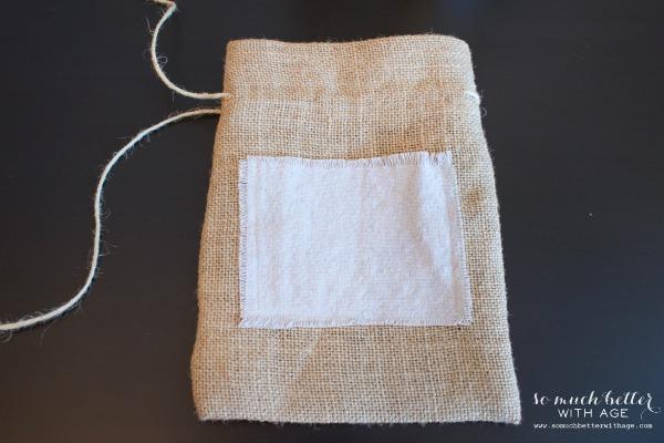 DIY burlap gift bag | somuchbetterwithage.com
