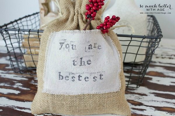 Drop cloth gift bag | somuchbetterwithage.com