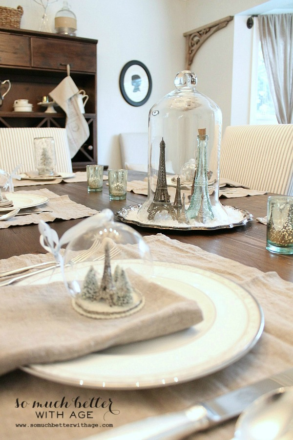 French Christmas tablescape by somuchbetterwithage.com