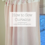 How to Sew (Pink Ticking) Curtains