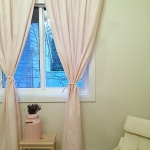 Pink ticking fabric / How to sew curtains by somuchbetterwithage.com