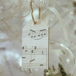 Sheet Music Wooden Tag Ornaments