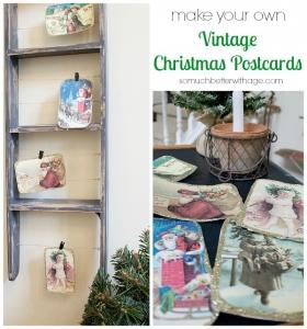 DIY-vintage-christmas-postcards