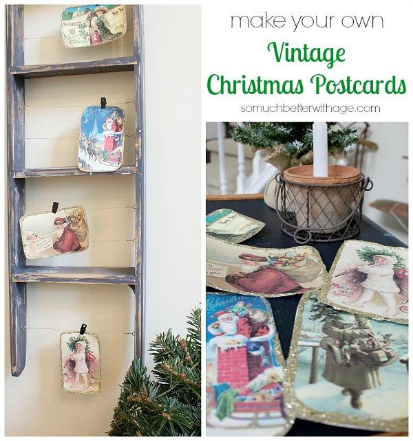 25 Cute Diy Home Decor Ideas: DIY Vintage Christmas Postcards