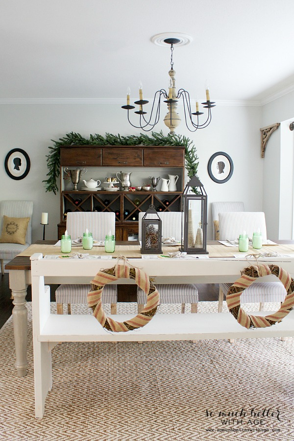 Christmas dining room tables cape