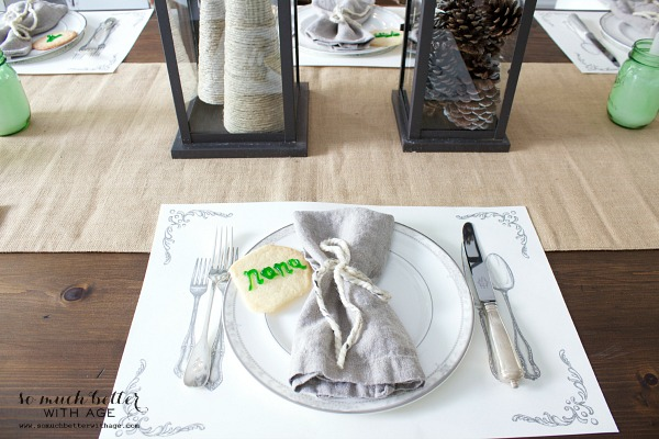 12 Days of Christmas Tablescape by somuchbetterwithage.com