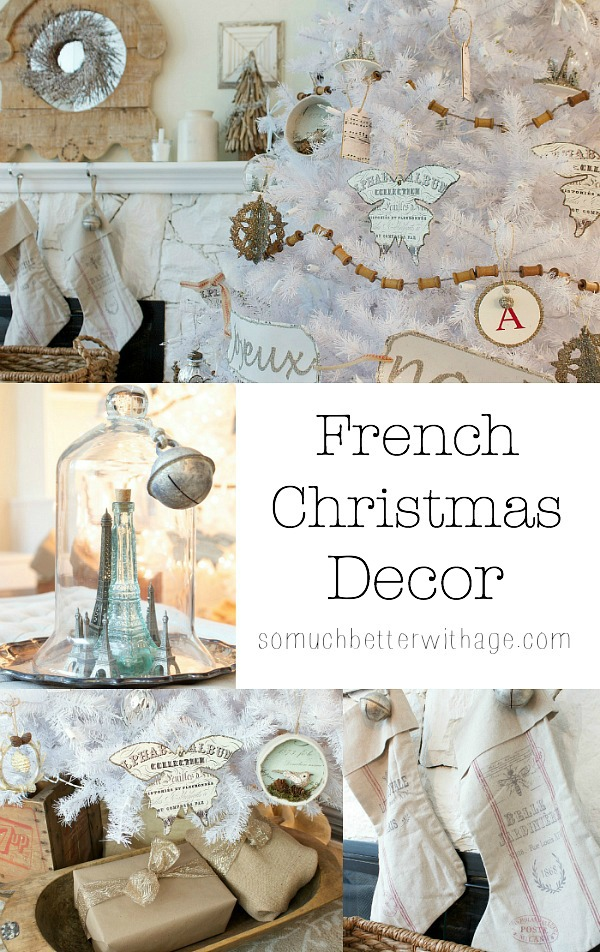 French Christmas Decor by somuchbetterwithage.com