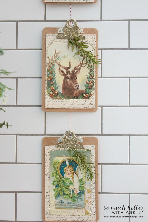 Vintage vertical christmas garland so much better with age